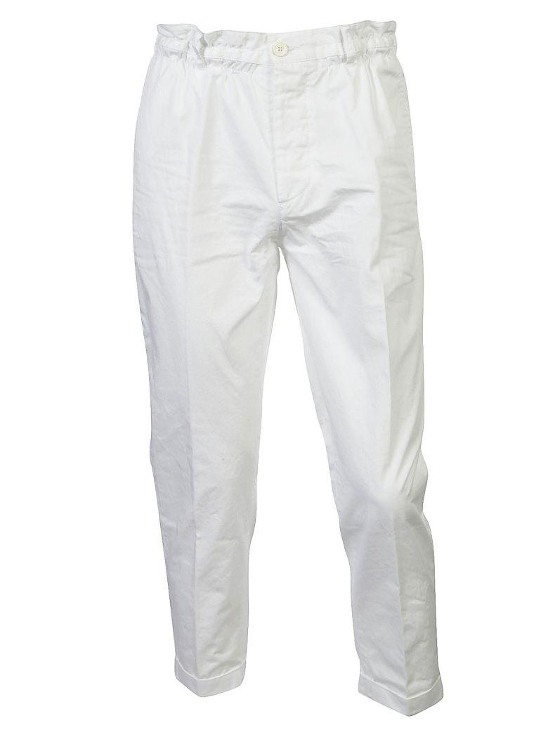 Dsquared2 Ruched-waist Trousers In Bianco
