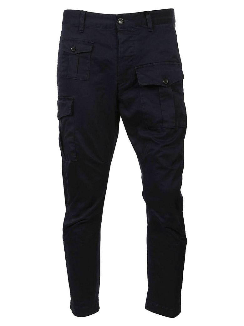 Dsquared2 Cargo Trousers In Blu Scuro