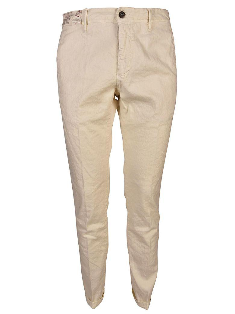 Incotex Skinny Fit Trousers In Bianco Sporco