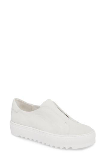 Jslides Spazo Slip-on Platform Sneaker In White Nubuck
