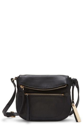 Vince Camuto Tala Small Leather Crossbody Bag - Black