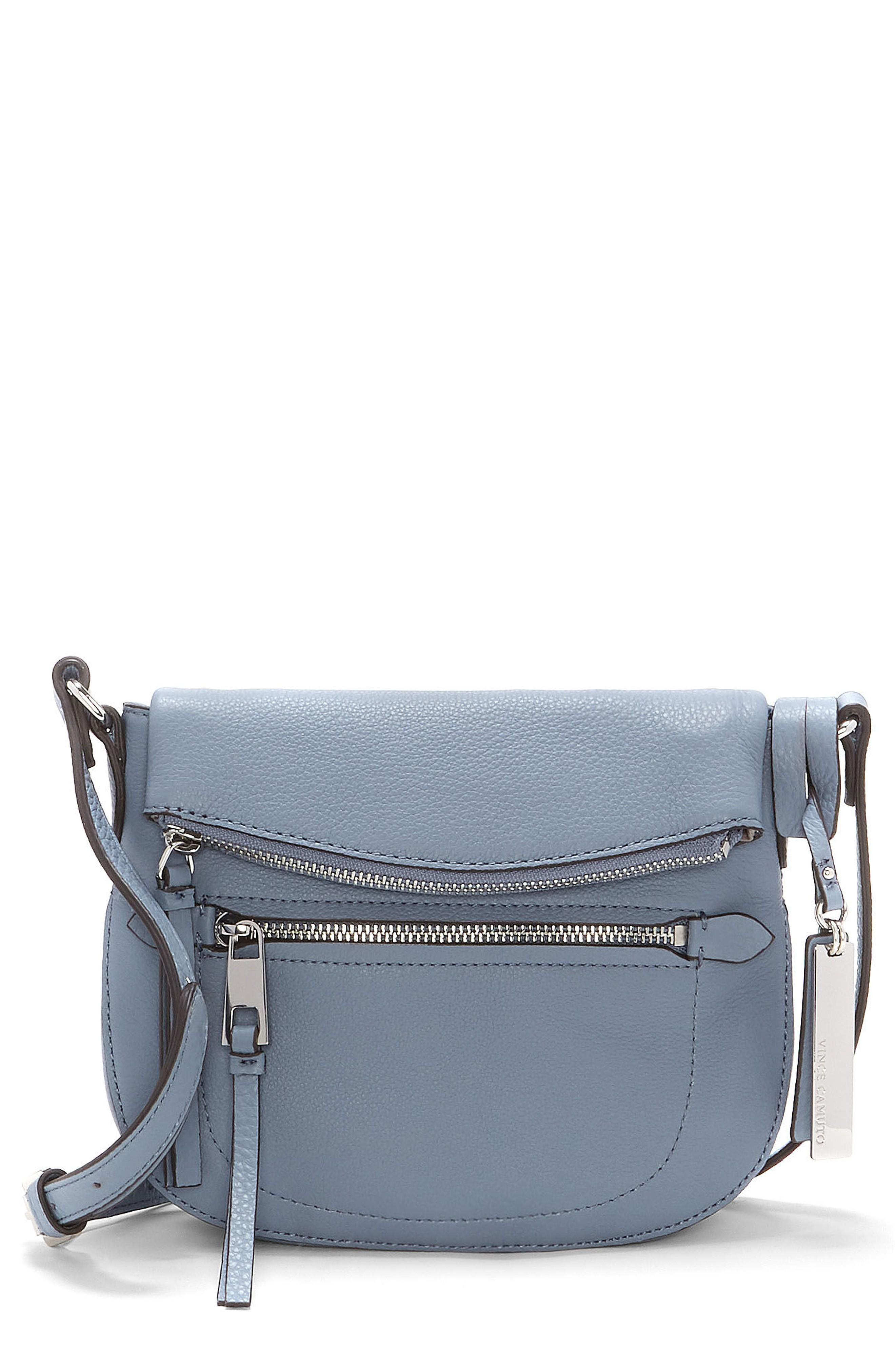 Vince Camuto Tala Small Leather Crossbody Bag - Blue In Serenity Blue