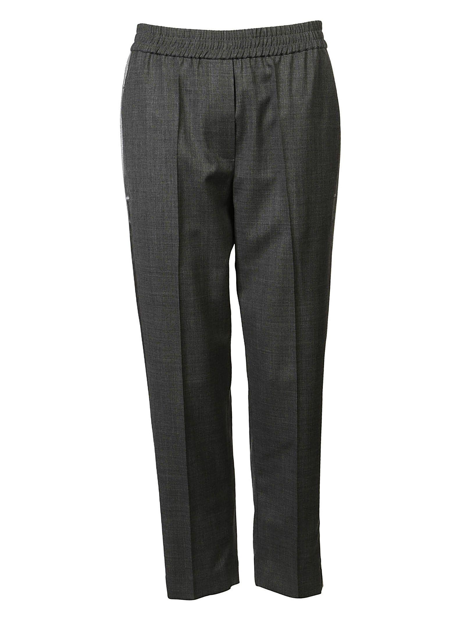 Brunello Cucinelli Elasticated Trousers In Grigio