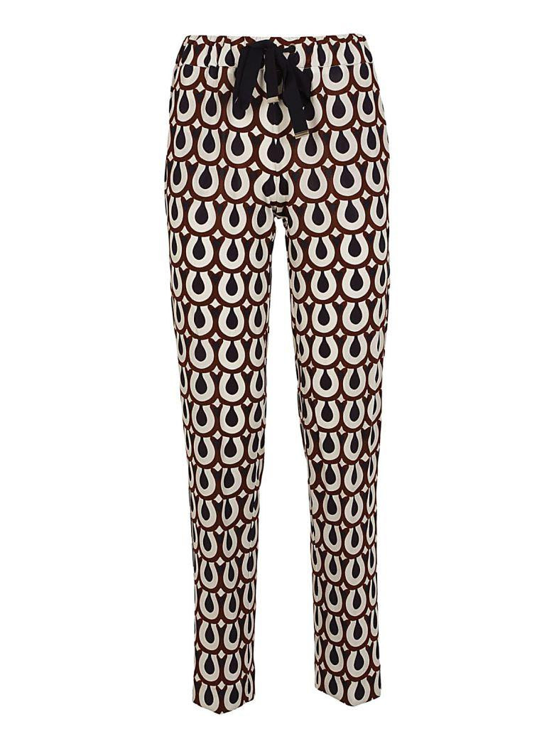 Via Masini 80 Printed Track Pants In Blu-moro