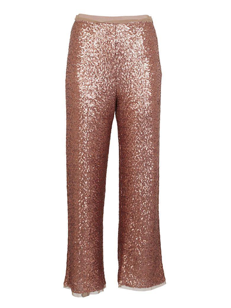 Via Masini 80 Embellished Trousers In Rame