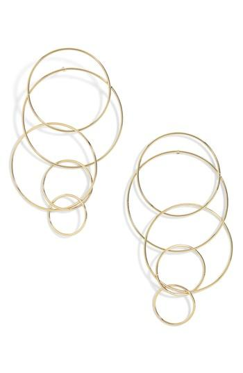 Baublebar Mixed Size Layered Hoop Earrings In Gold