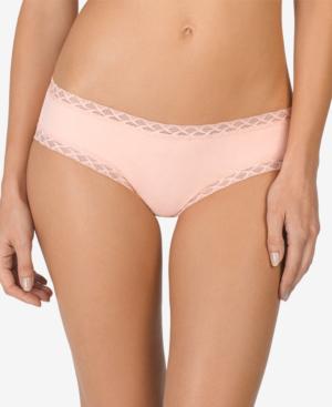 Natori Bliss Lace-trim Cotton Brief 156058 In Creamsicle
