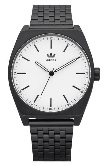 Adidas Originals Process Bracelet Watch, 38mm In Black/ White