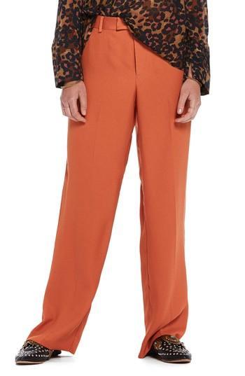 Scotch & Soda Wide Leg Pants In Color 2018 Tiger Orange