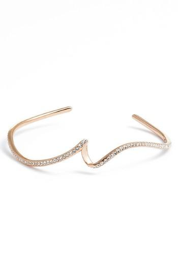 Nadri Citron Crystal Cuff In Rose Gold