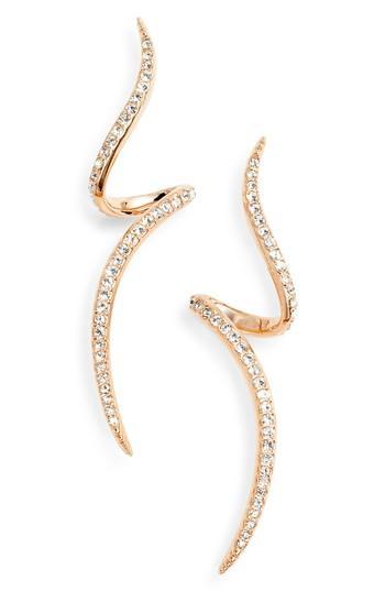 Nadri Citron Linear Drop Earrings In Rose Gold