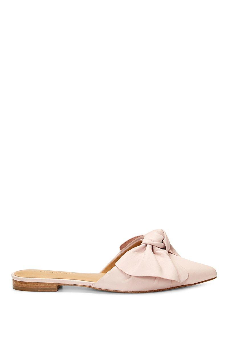 Rebecca Minkoff Women's Alexis Leather Bow Pointed Toe Mules In Pink