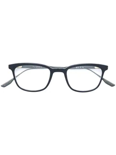 Dita Eyewear Floren Square Frame Glasses In Black