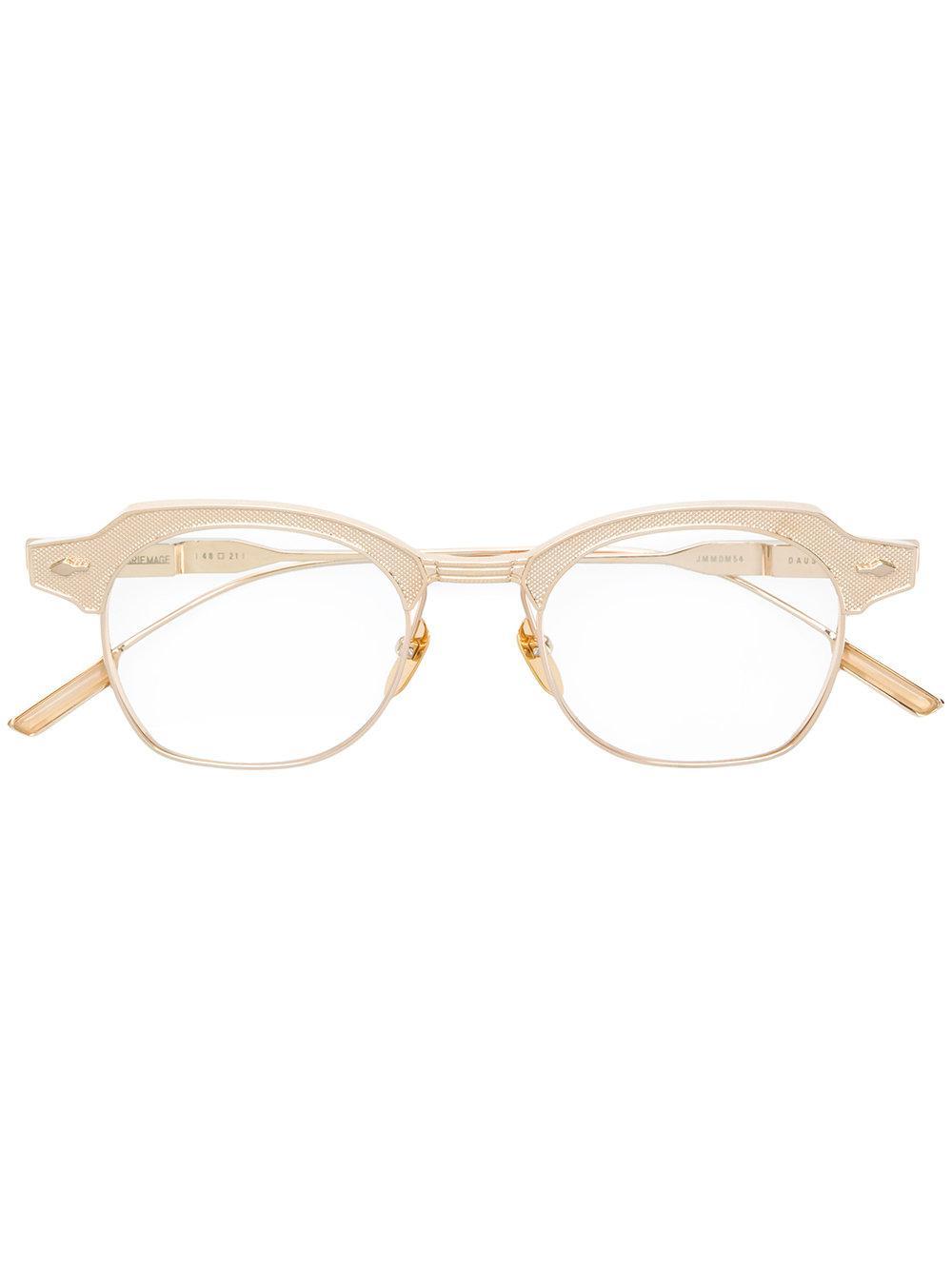 Jacques Marie Mage Dausmenil Round Frame Glasses In Metallic
