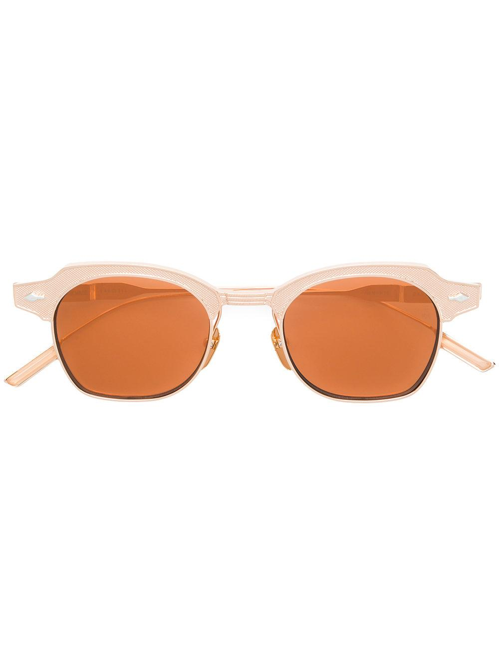 Jacques Marie Mage Dausmenil Square Frame Sunglasses In Metallic