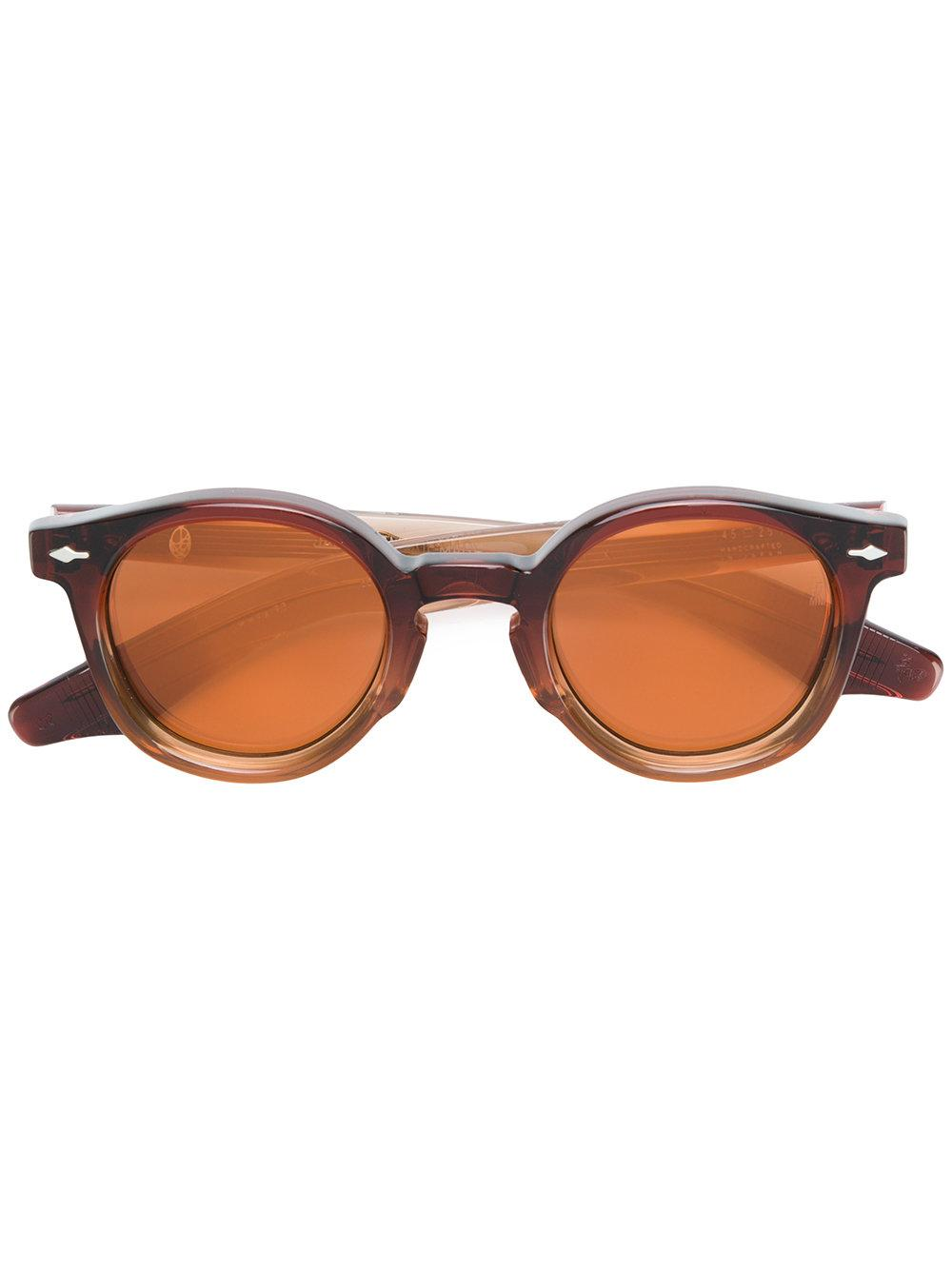 Jacques Marie Mage Felix Round Frame Sunglasses In Brown
