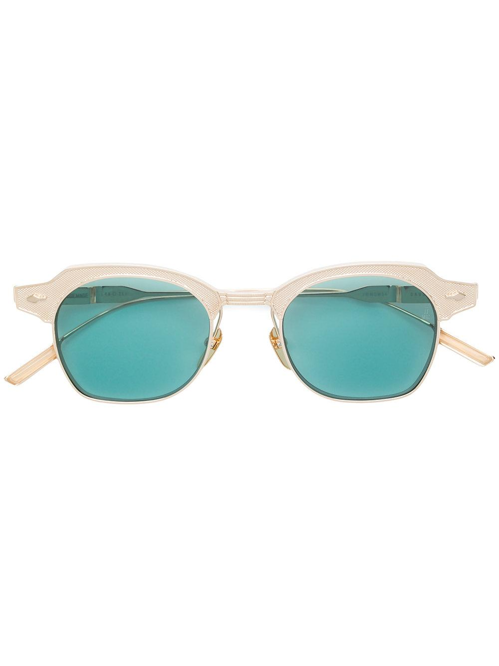 Jacques Marie Mage Dausmenil Square Frame Sunglasses In Green