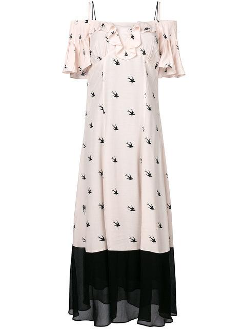 Mcq By Alexander Mcqueen Pin Up Swallow Dress
