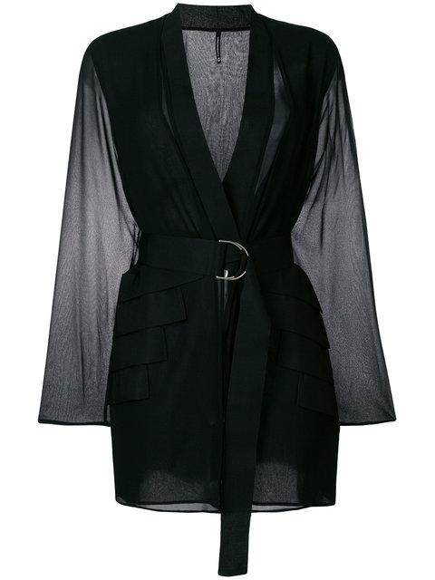 Pierantoniogaspari Belted Jacket In Black