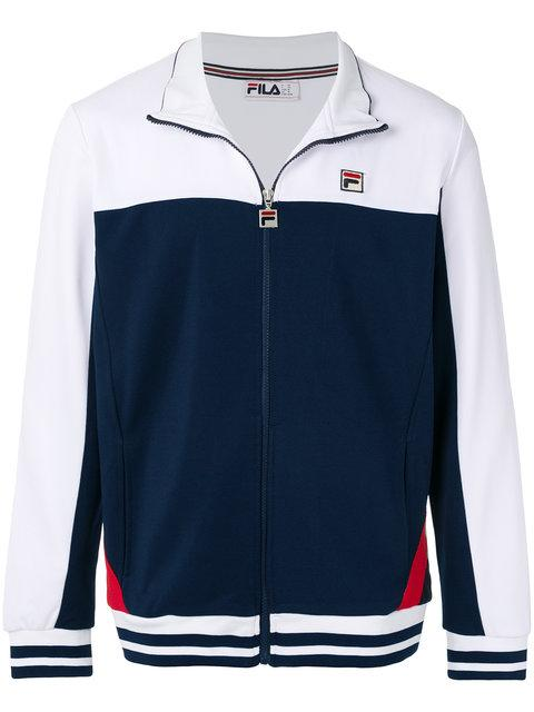 Fila Vintage Track Jacket With Panel In Navy - Navy In Blue