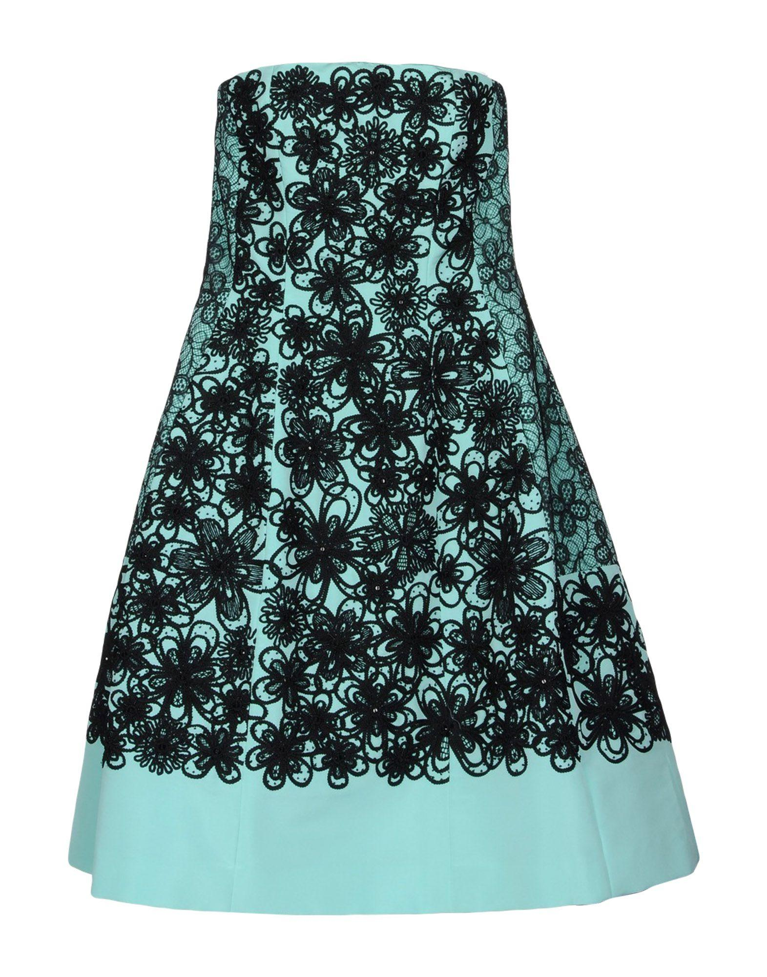 Oscar De La Renta Short Dresses In Light Green