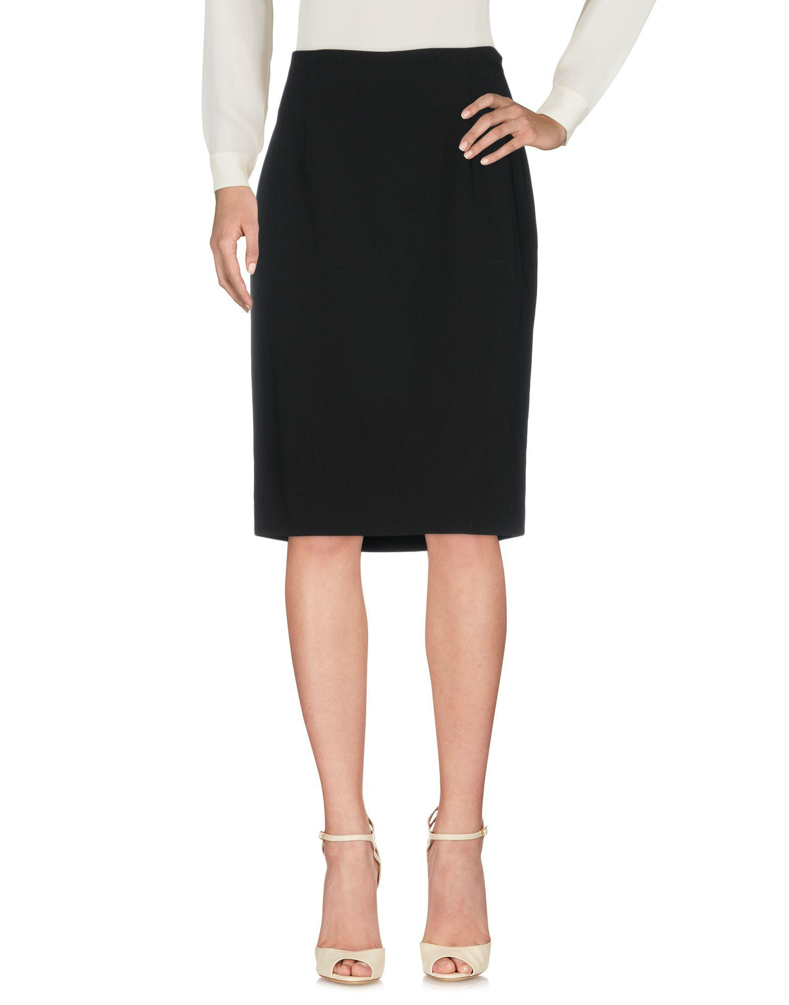 Moschino Cheap And Chic Knee Length Skirt In Black