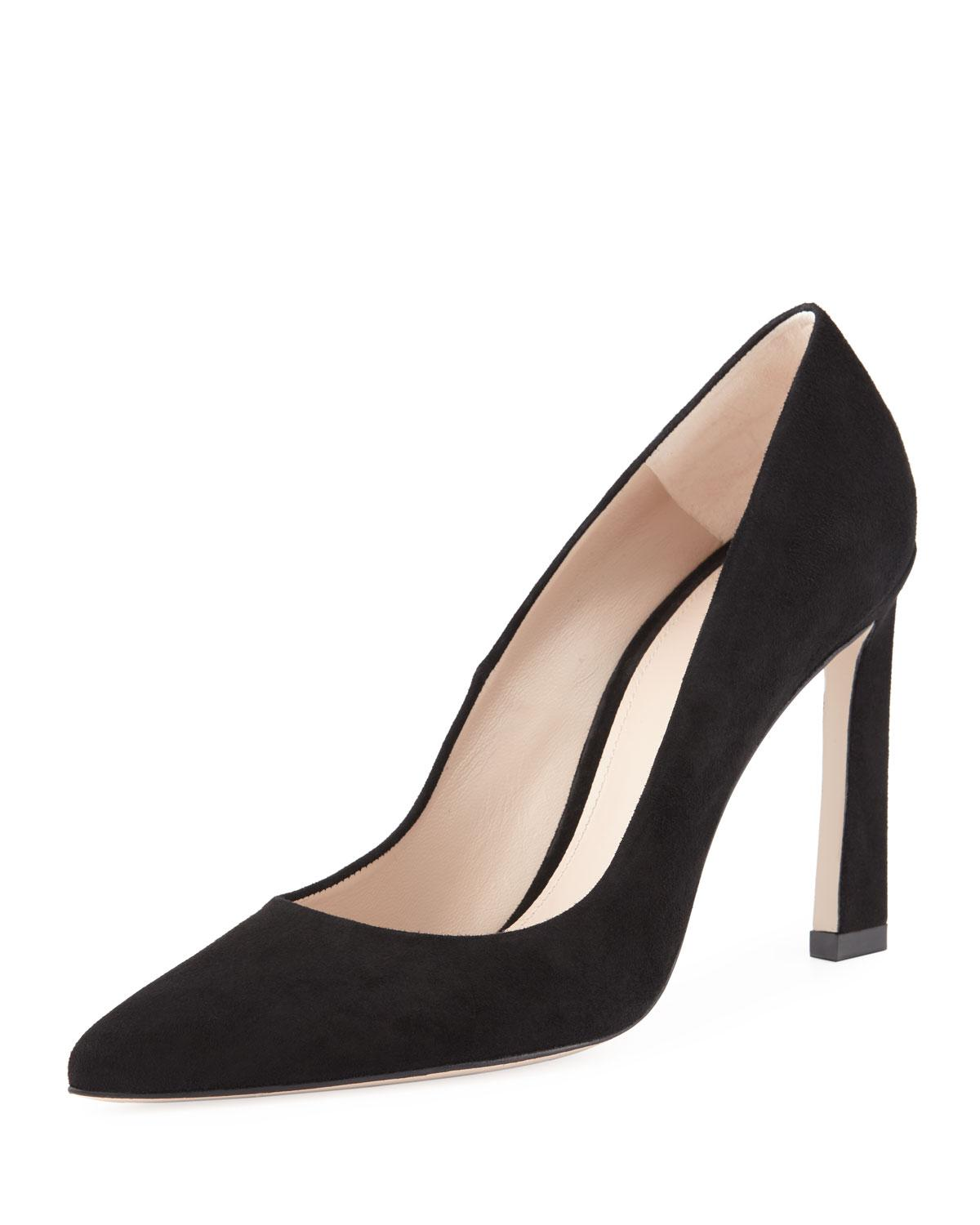 0b22f5d57ce A pointy-toe pump with a modern heel is a wardrobe mainstay that pairs well  with practically everything. Style Name  Stuart Weitzman Chicster Pointy  Toe ...