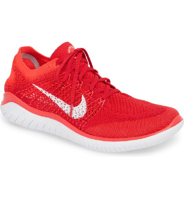 b76f9efacfbf Nike Free Rn Flyknit 2018 Running Shoe In University Red  White  Crimson