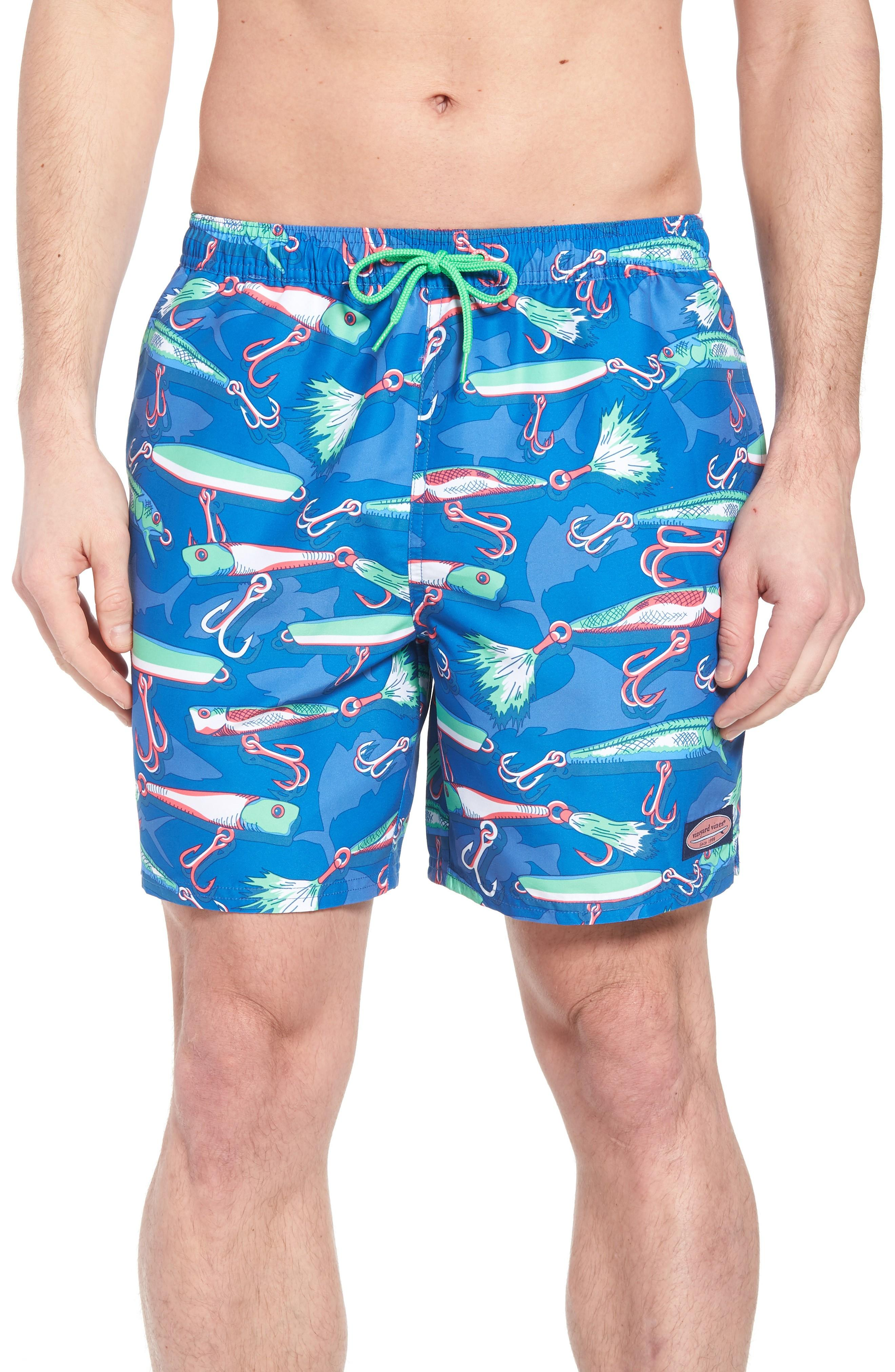 eaf0cb0ee88f2 Vineyard Vines Chappy Lures Swim Trunks In Hull Blue | ModeSens