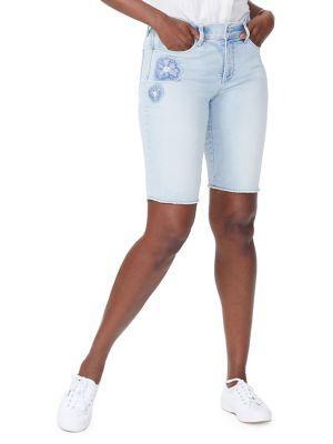 7efc85e99b Nydj Briella Dream Blossom Denim Bermuda Shorts In Palm Desert. SIZE & FIT  INFORMATION