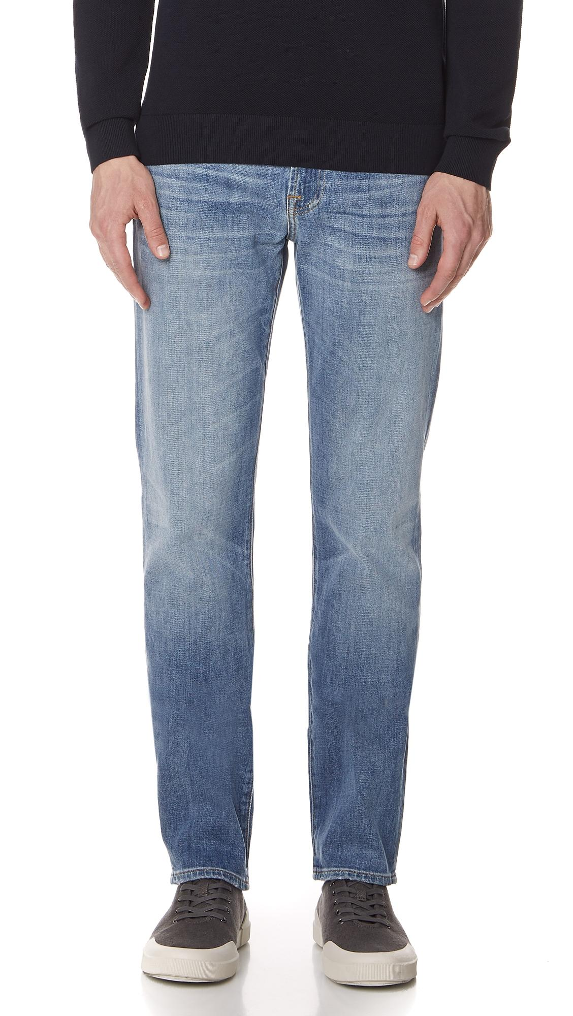 7 For All Mankind Slimmy Clean Pocket Denim Jeans In Cowboy