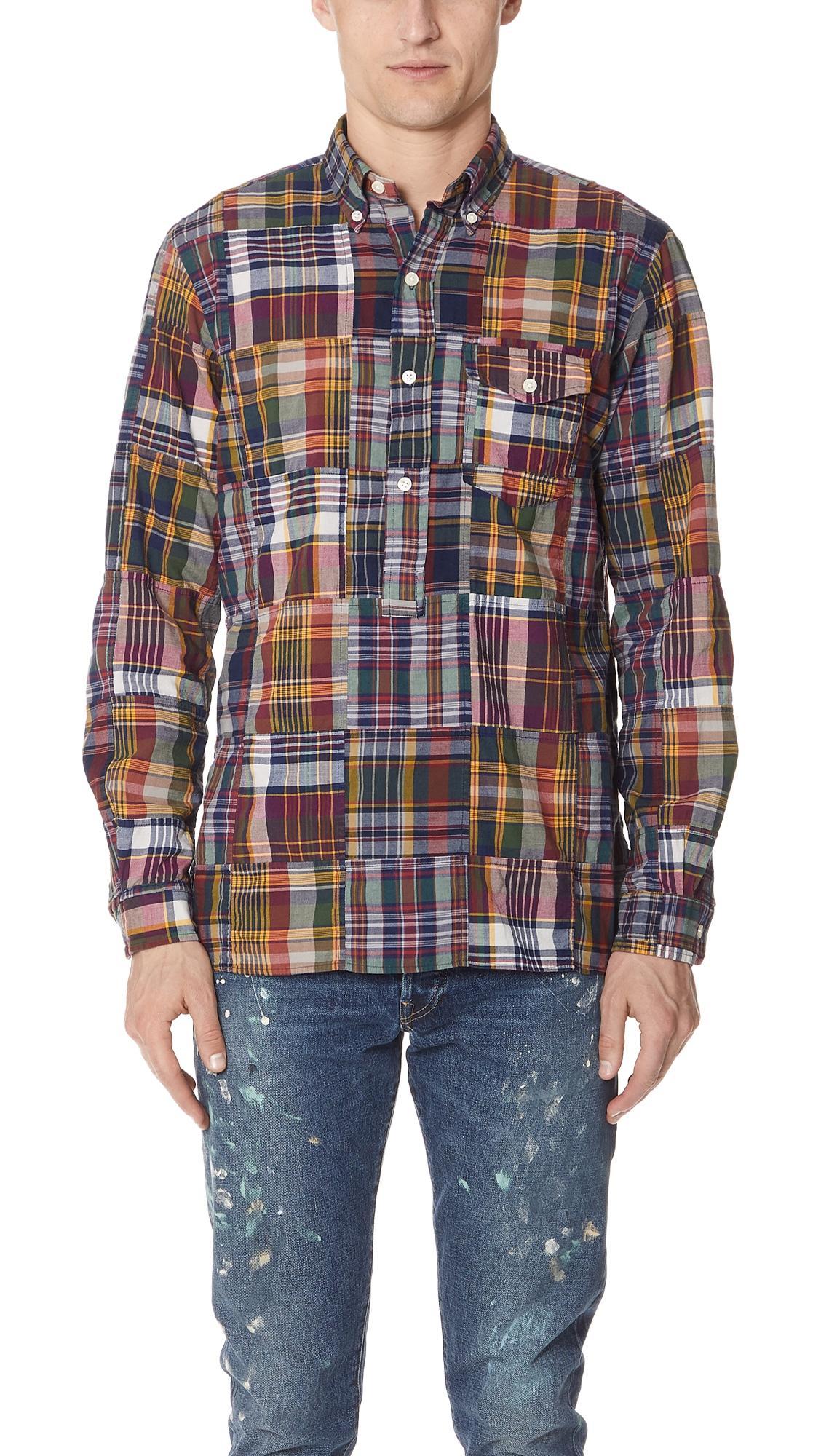 ad10f8b9 Polo Ralph Lauren Patchwork Madras Shirt In Multi   ModeSens