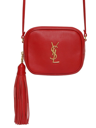 bc7f262c32 Saint Laurent Monogram Blogger Leather Shoulder Bag In Red | ModeSens