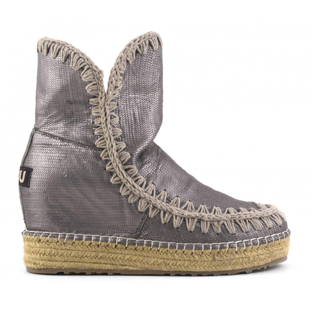 789c72deaa Mou Eskimo Jute Inner Wedge Special Leather In Gun