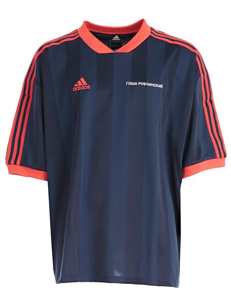 Gosha Rubchinskiy Navy Blue Striped Adidas T-shirt