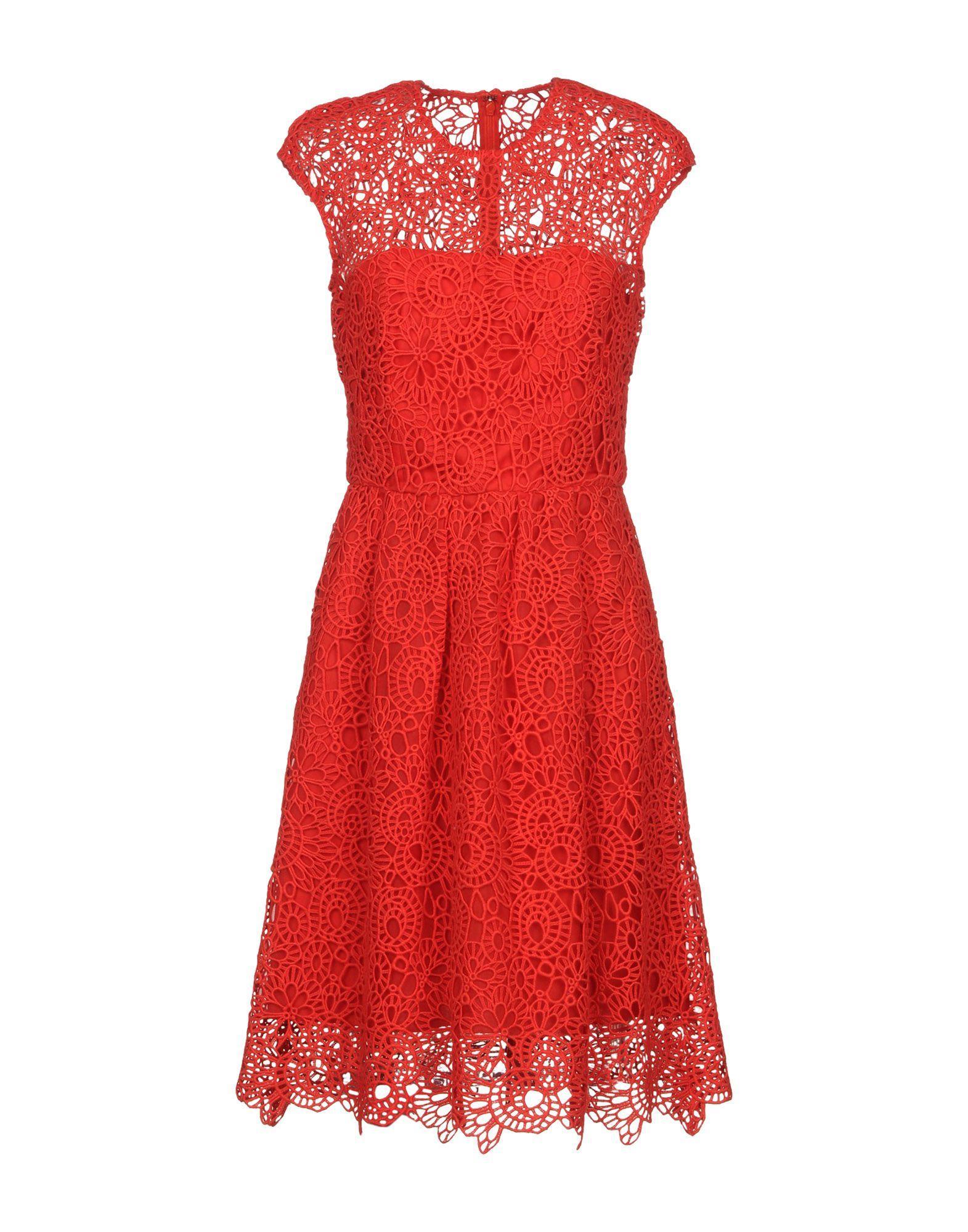 Lela Rose Short Dress In Red