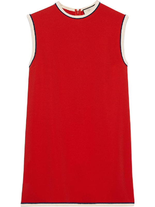 65f1d8cc Gucci Sleeveless Crewneck Cady-Stretch Tunic Top, Red | ModeSens