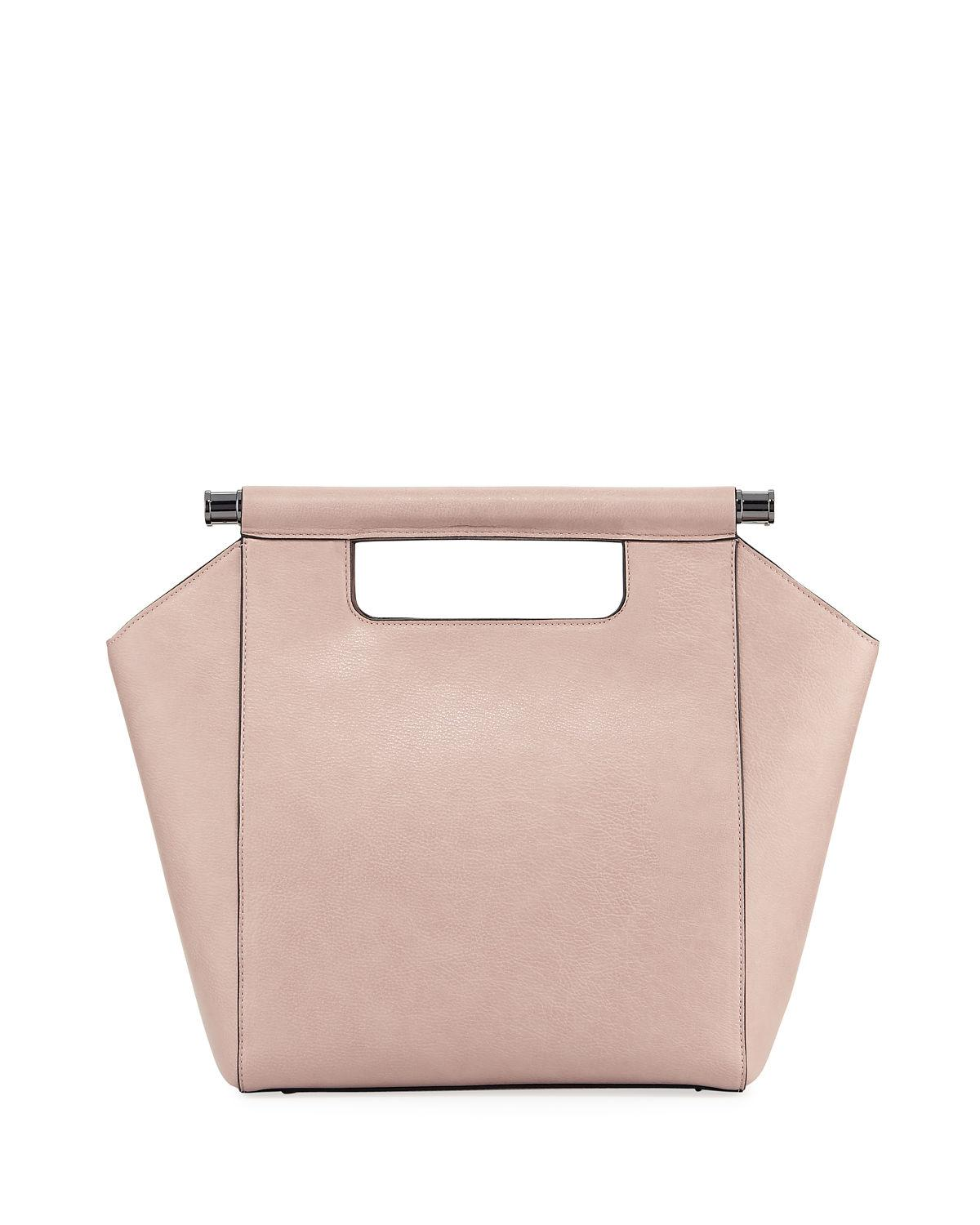 cdb41559a7c6 Neiman Marcus Minimalista Top-Handle Tote Bag In Pink