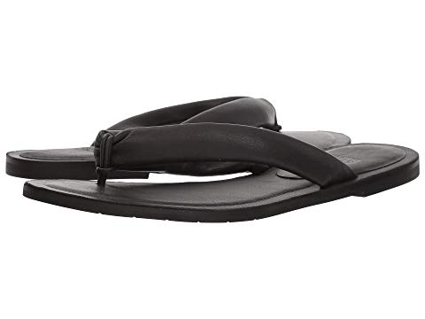 594d29785d8 Eileen Fisher Flue Flat Washed Leather Thong Sandals In Black