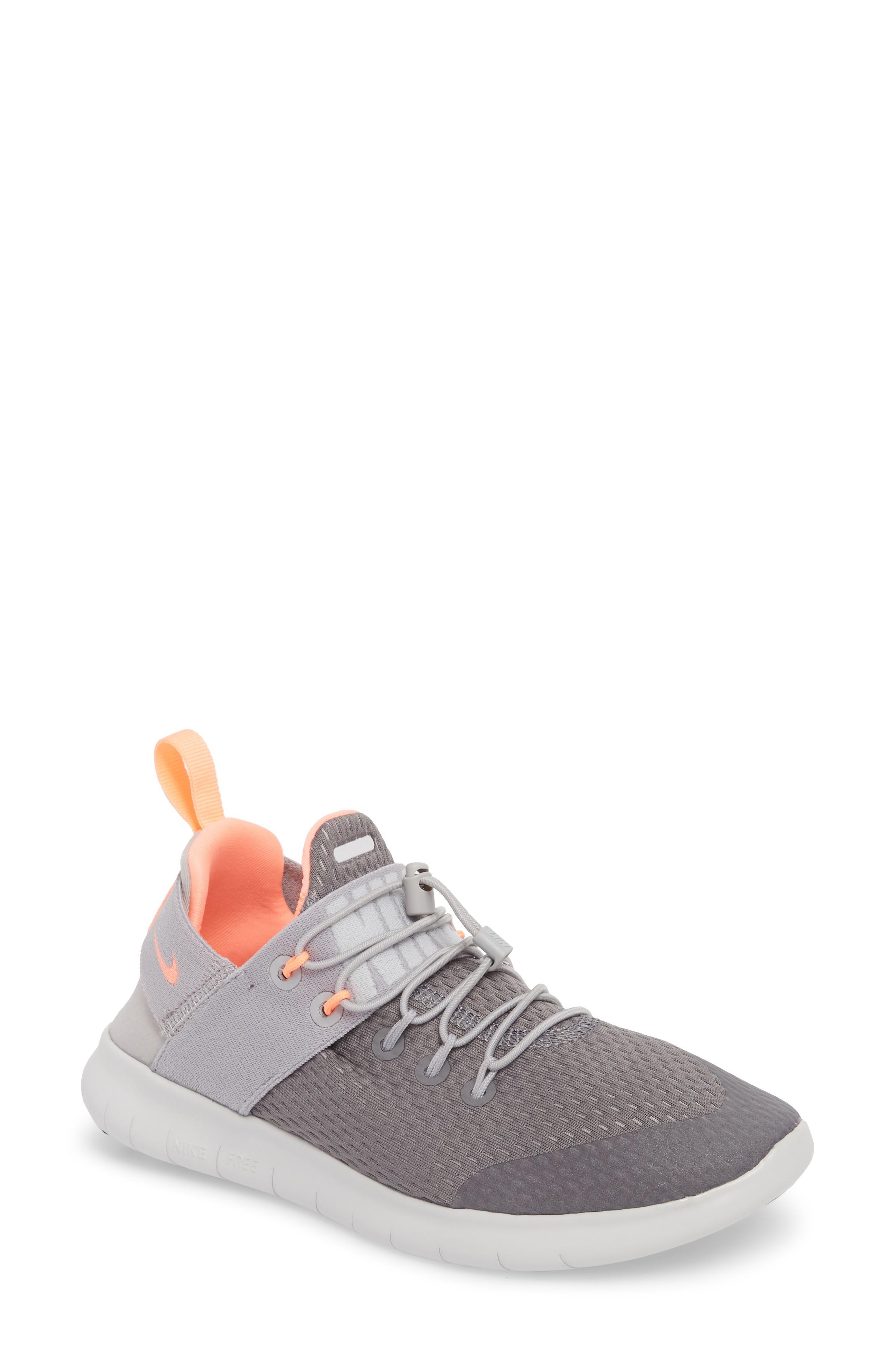 c67aeef8c4b3 Nike Free Rn Cmtr Running Shoe In Gunsmoke  Crimson Pulse