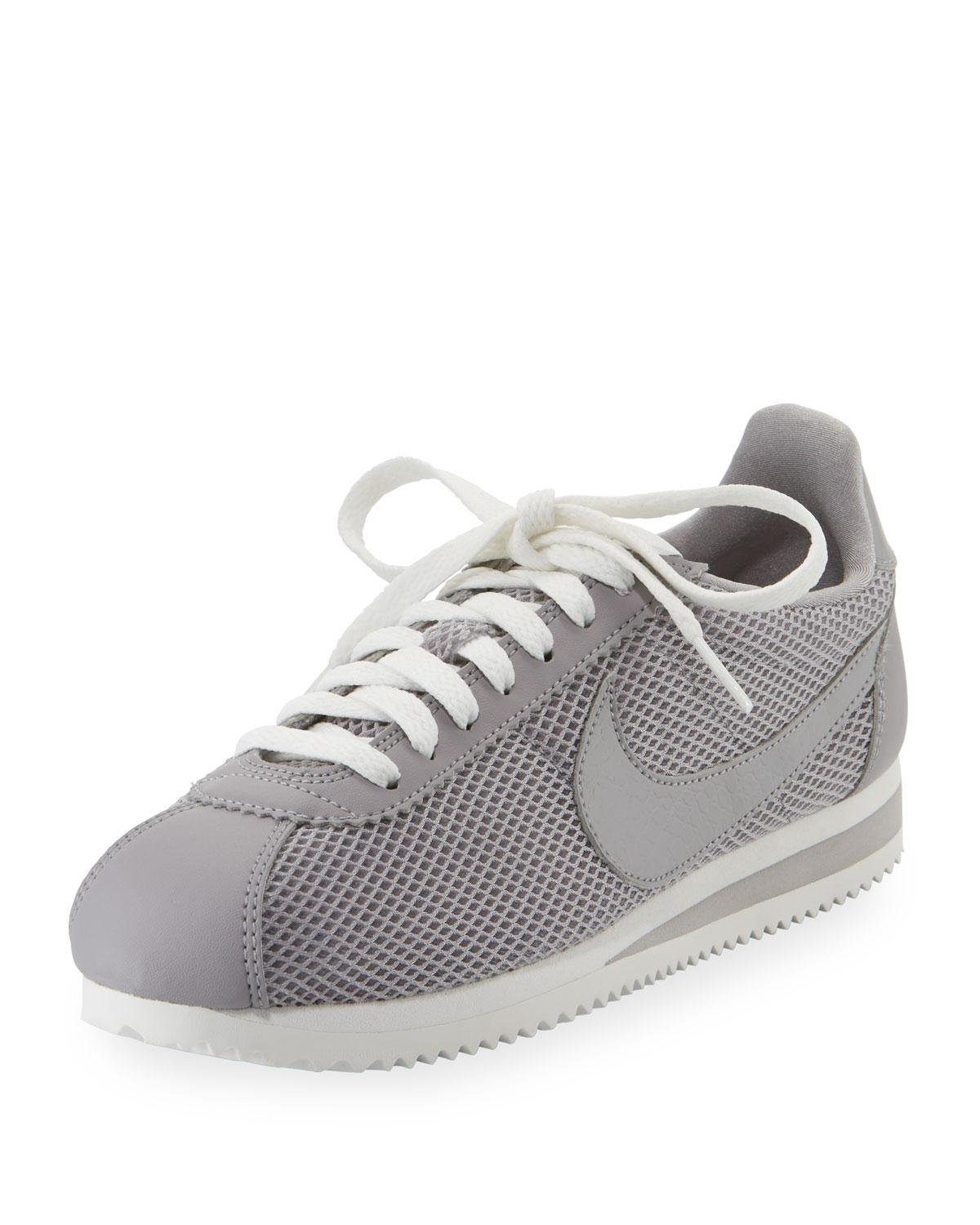 Nike Women S Classic Cortez Mesh Lace Up Sneakers In Atmosphere Grey ... afca29ea2a39