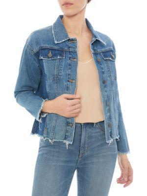 Sam Edelman The Karlie Raw Edge Denim Jacket