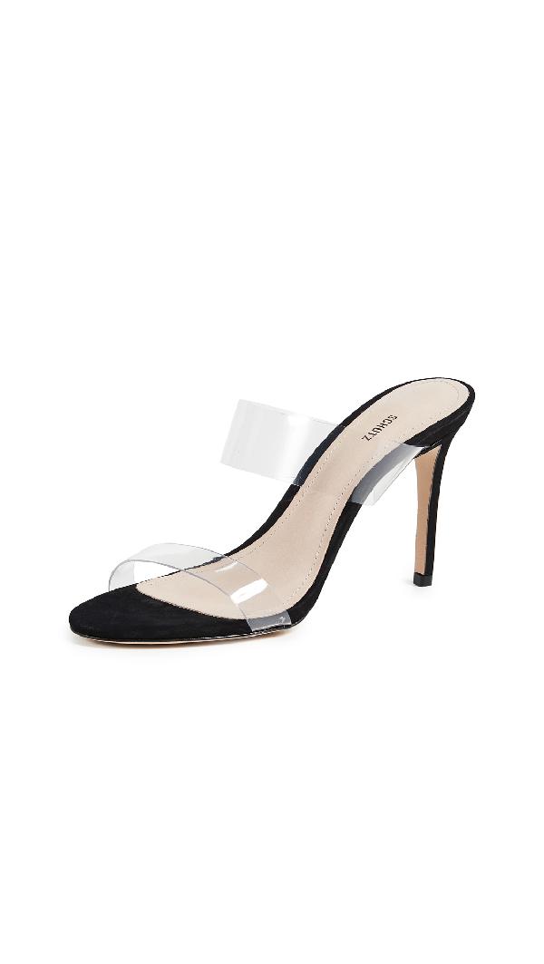 4a03f169f033 Schutz Women s Ariella Clear Strap High-Heel Slide Sandals In Black ...