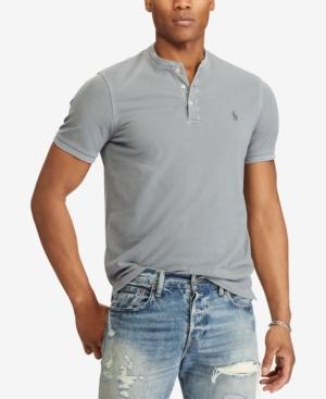 db4aad96f Polo Ralph Lauren Men's Big & Tall Featherweight Mesh Henley Shirt In  Perfect Grey