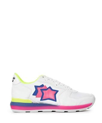 Atlantic Stars Women's  White Leather Sneakers