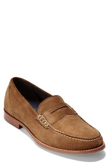 Cole Haan 'pinch Grand' Penny Loafer In Bourbon Suede