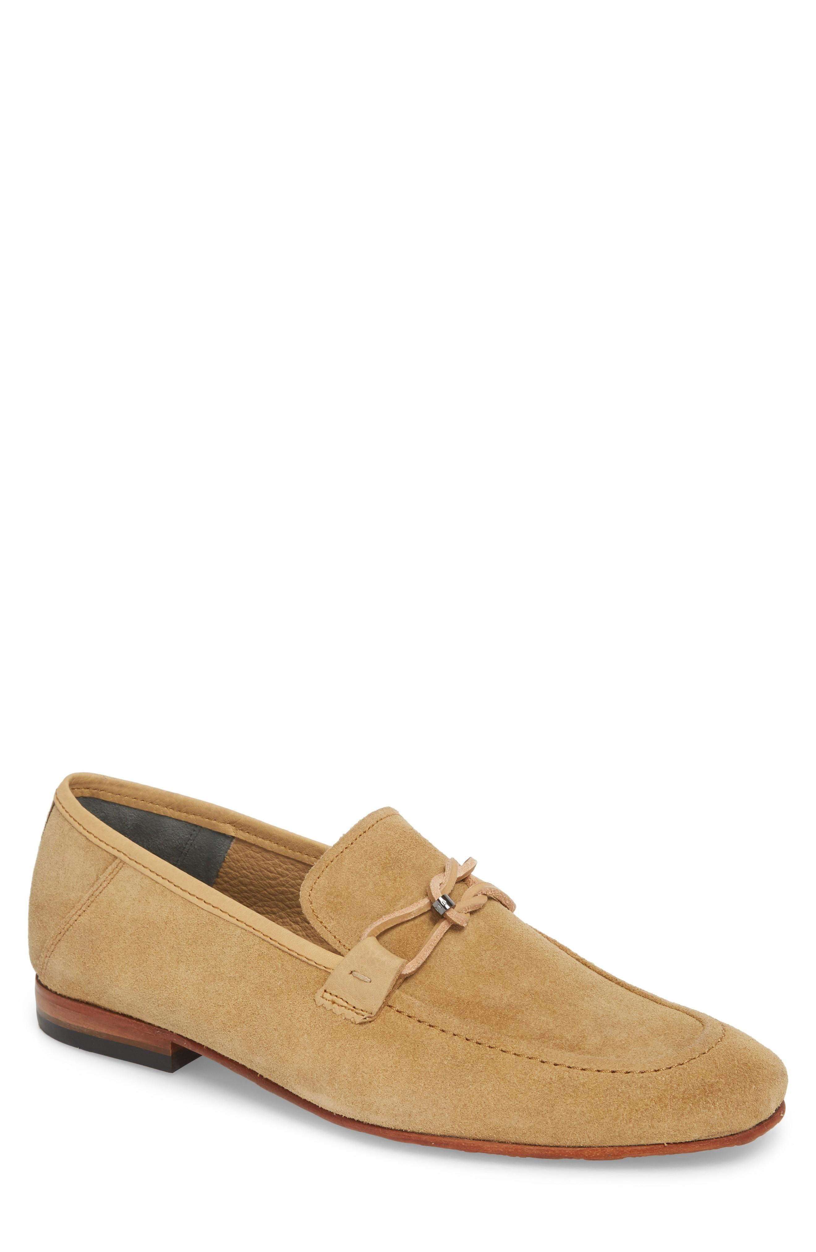 Ted Baker Hoppken Convertible Knotted Loafer In Sand Suede