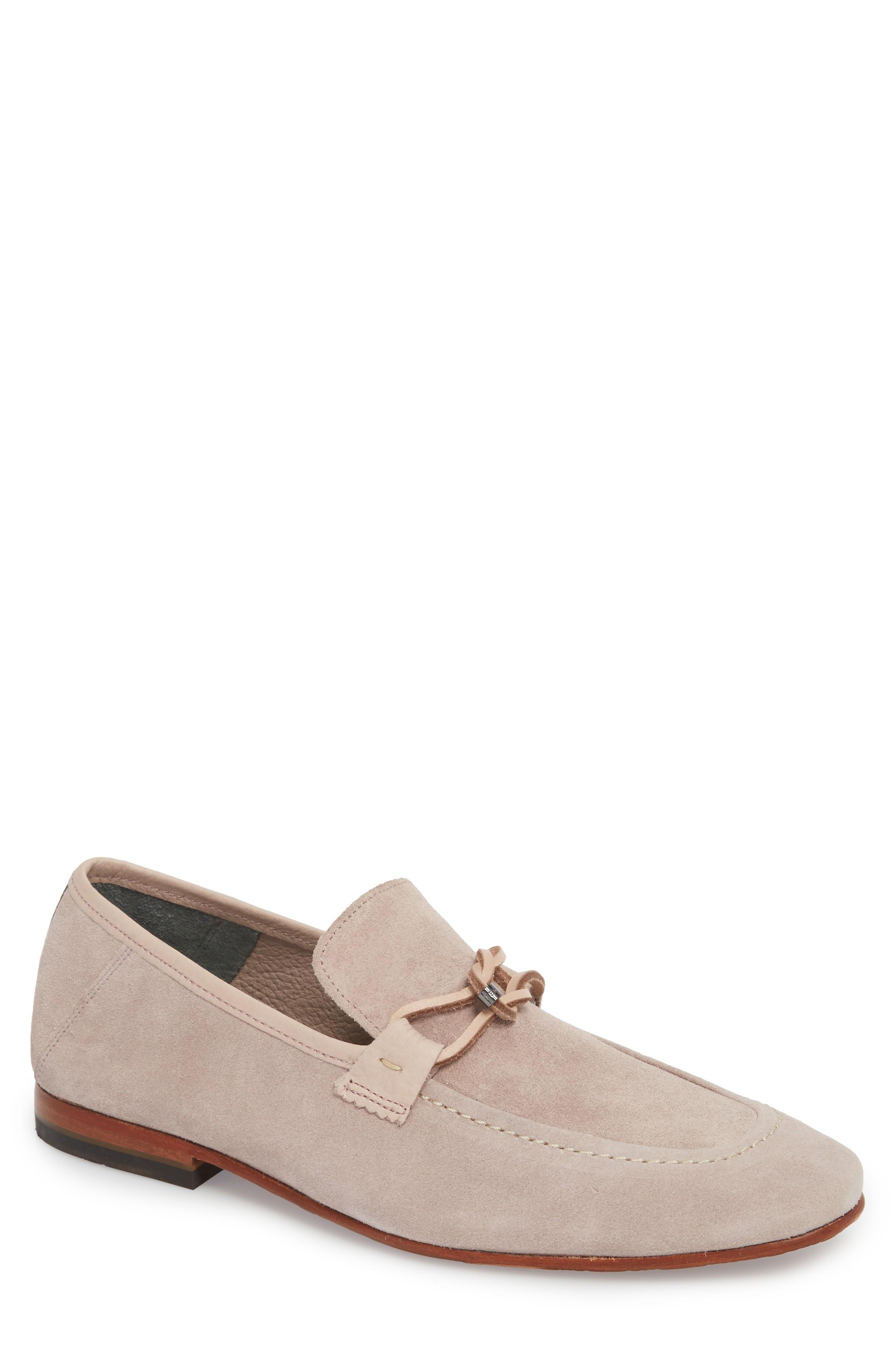 Ted Baker Hoppken Convertible Knotted Loafer In Light Pink Suede