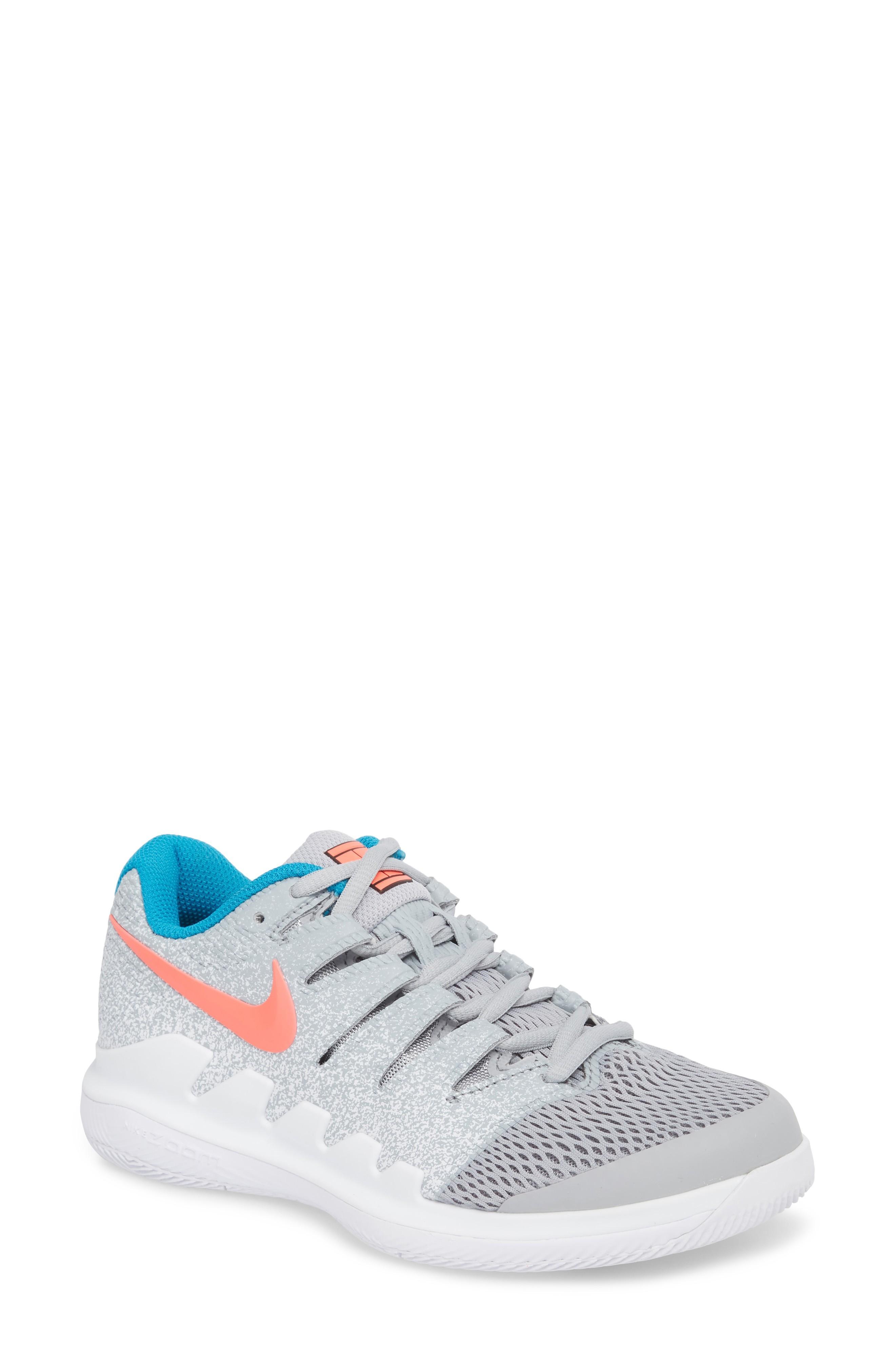 b964b571271b Nike Air Zoom Vapor X Tennis Shoe In Wolf Grey  Hot Lava