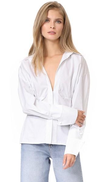 Jacquemus Paula Shirt In White/black
